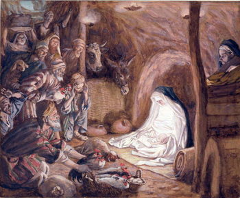 The Adoration of the Shepherds, illustration for 'The Life of Christ', c.1886-94 Festmény reprodukció