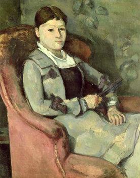 The Artist's Wife in an Armchair, c.1878/88 Festmény reprodukció