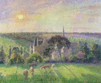 The Church and Farm of Eragny, 1895 Festmény reprodukció