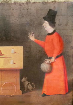 The Conjuror, detail (oil on panel) Festmény reprodukció