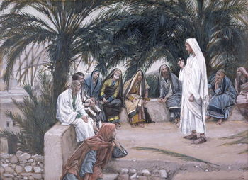 The First Shall Be the Last, illustration for 'The Life of Christ', c.1886-94 Festmény reprodukció