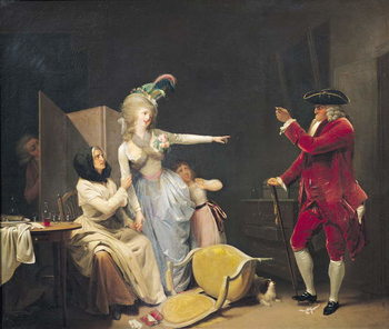 The Jealous Old Man, 1791 Festmény reprodukció