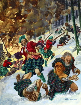 The Massacre of Glencoe Festmény reprodukció