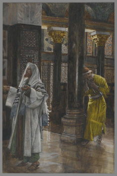 The Pharisee and the Publican, illustration from 'The Life of Our Lord Jesus Christ', 1886-94 Festmény reprodukció