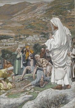 The Possessed Boy at the Foot of Mount Tabor, illustration from 'The Life of Our Lord Jesus Christ', 1886-96 Festmény reprodukció