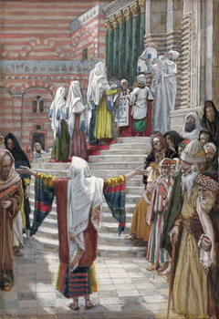 The Presentation of Christ in the Temple, illustration for 'The Life of Christ', c.1886-94 Festmény reprodukció