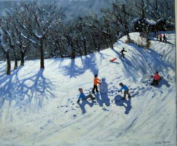 The Snowman,Morzine, Festmény reprodukció