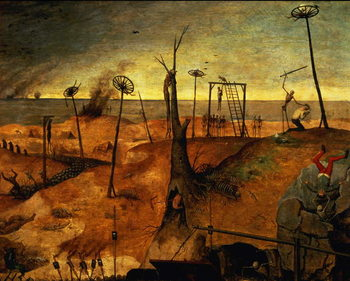 The Triumph of Death, c.1562 (oil on panel) Festmény reprodukció