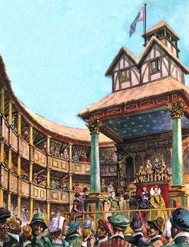 The Tudor Theatre Festmény reprodukció