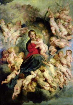 The Virgin and Child surrounded by the Holy Innocents or, The Virgin with Angels, 1618 Festmény reprodukció