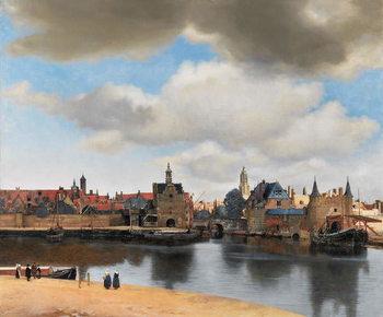 View of Delft, c.1660-61 Festmény reprodukció