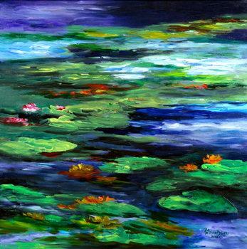 Water Lily Somnolence, 2010 Festmény reprodukció