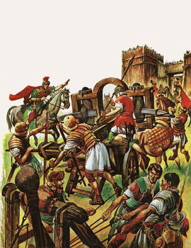 When the Britons Fought against the Roman Armies Festmény reprodukció