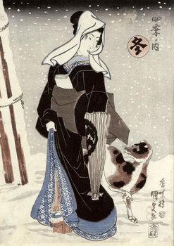 Winter, from the series 'Shiki no uchi' (The Four Seasons) Festmény reprodukció