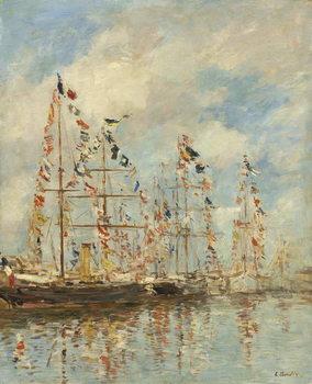 Yacht Basin at Trouville-Deauville, c.1895-6 Festmény reprodukció