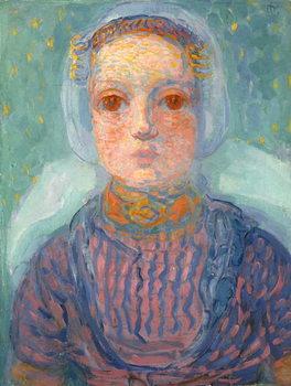 Zeeland Little Girl; Zeeuws Meisje, 1909-1910 Festmény reprodukció