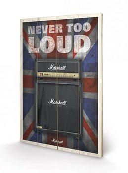 MARSHALL - never too loud Fából készült kép