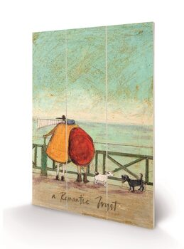 Sam Toft - A Romantic Tryst Fából készült kép
