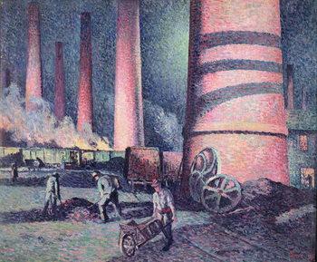 Factory Chimneys, 1896 Festmény reprodukció