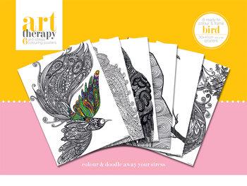 Färgläggnings posters Art Therapy - Bird