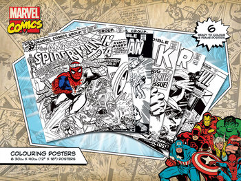 Färgläggnings posters Marvel Comics - Covers