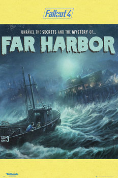 Fallout 4 - Far Harbour - плакат (poster)