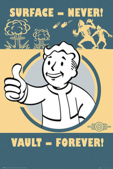 Fallout 4 - Vault Forever - плакат (poster)