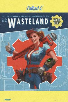 Fallout 4 - Wasteland - плакат (poster)
