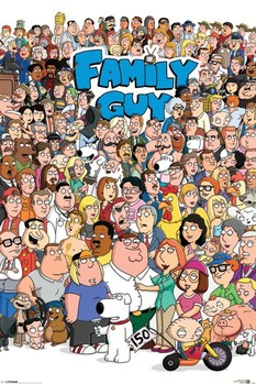 FAMILY GUY - characters - плакат (poster)