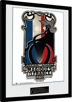 Πλαισιωμένη αφίσα Fantastic Beasts 2 - Magiques de la France
