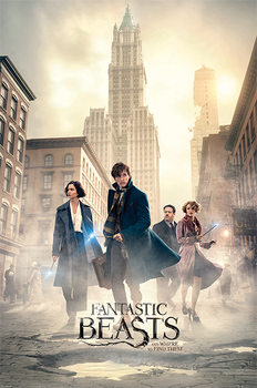 Fantastic Beasts - New York Streets - плакат (poster)