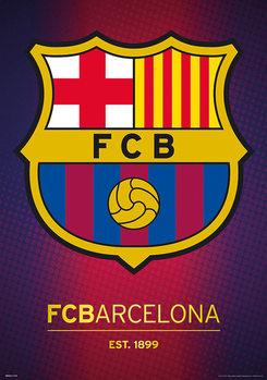 FC Barcelona - Crest - Metalický plakát