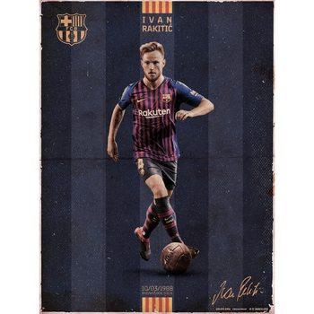 FC Barcelona - Rakitic Vintage Festmény reprodukció