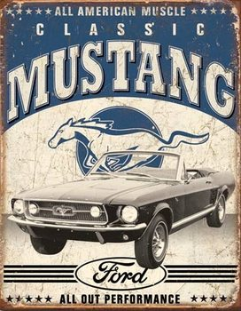 Classic Mustang fémplakát