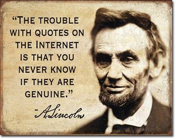 Quotes on the Internet fémplakát