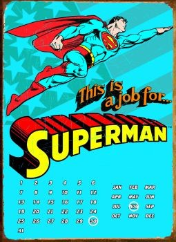 SUPERMAN THIS IS A JOB FOR ... fémplakát