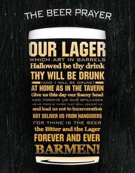 Fém tábla The Beer Prayer