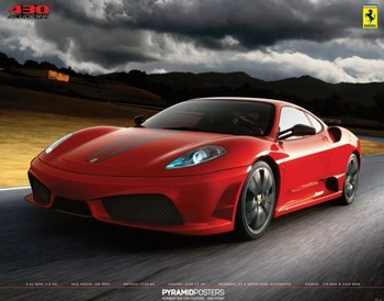 Ferrari - 430 scuderia  - плакат (poster)