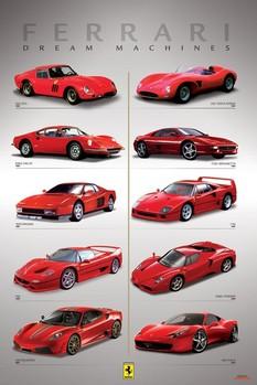 Ferrari - dream machines - плакат (poster)