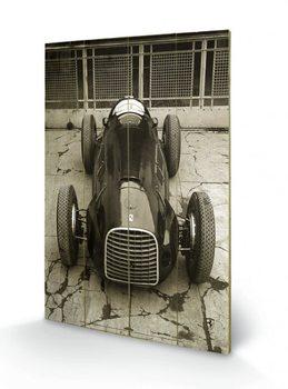 Bild auf Holz Ferrari F1 - Vinatge 125