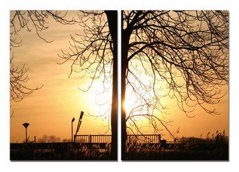Tree of Sun modern festmény