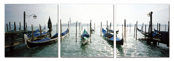 Venice - Port for Gondolas Modern kép