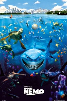 FINDING NEMO - characters - плакат (poster)