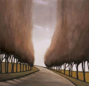 Forest Road I Festmény reprodukció