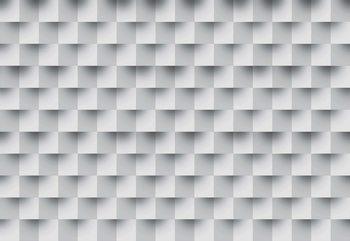 3D Brick Illusion Pattern Fotobehang