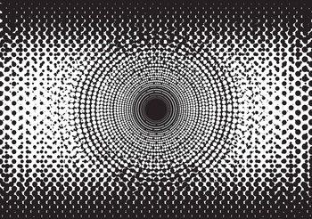 Abstract Black White Dots Fotobehang