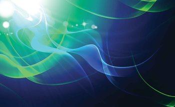 Abstract Light Pattern Blue Green Fotobehang
