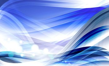 Abstract Light Pattern Blue Fotobehang