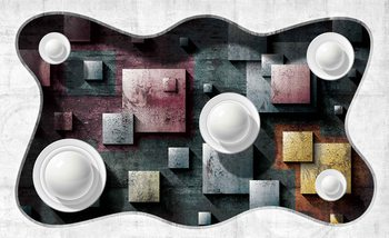 Abstract Modern Design Art Spheres Fotobehang