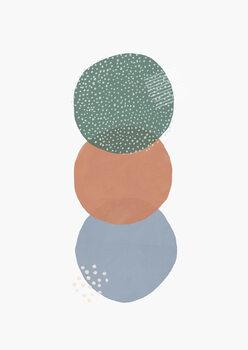 Abstract soft circles part 2 Fotobehang